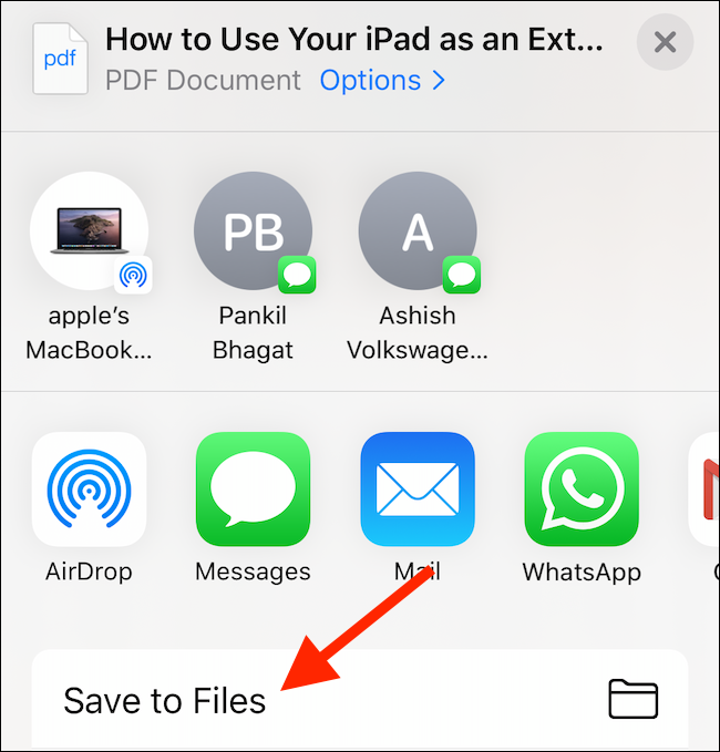 "Tap ""Save to Files."""