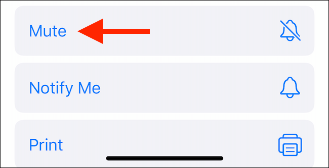 Tap on the Mute button from the Share sheet