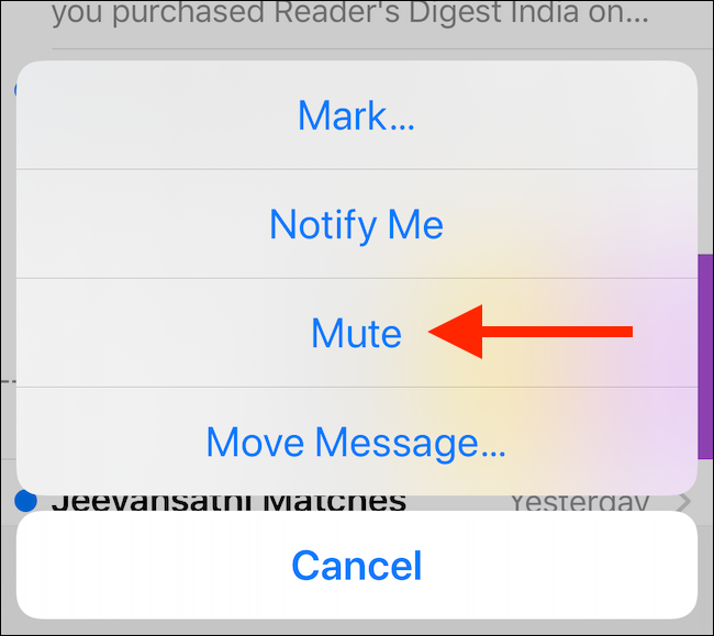 Tap on the Mute button
