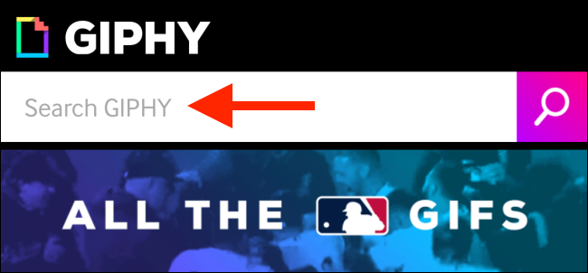 Tap to search for a GIF on GIPHY