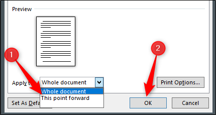 "Click ""This Point Forward,"" and then click ""OK""."