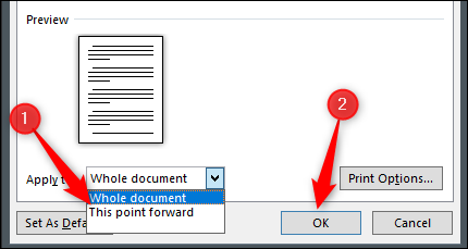 """Click """"This Point Forward,"""" and then click """"OK""""."""