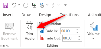Trim audio option