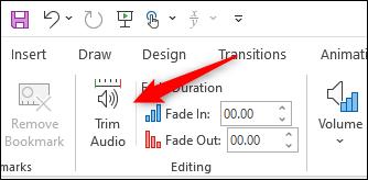Trim audio option