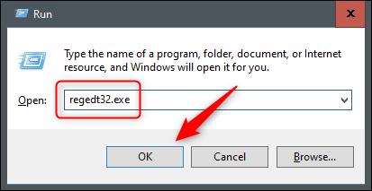"""Type """"Regedt32.exe"""" in the """"Run"""" window."""