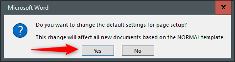 """Click """"Yes"""" to confirm the change."""