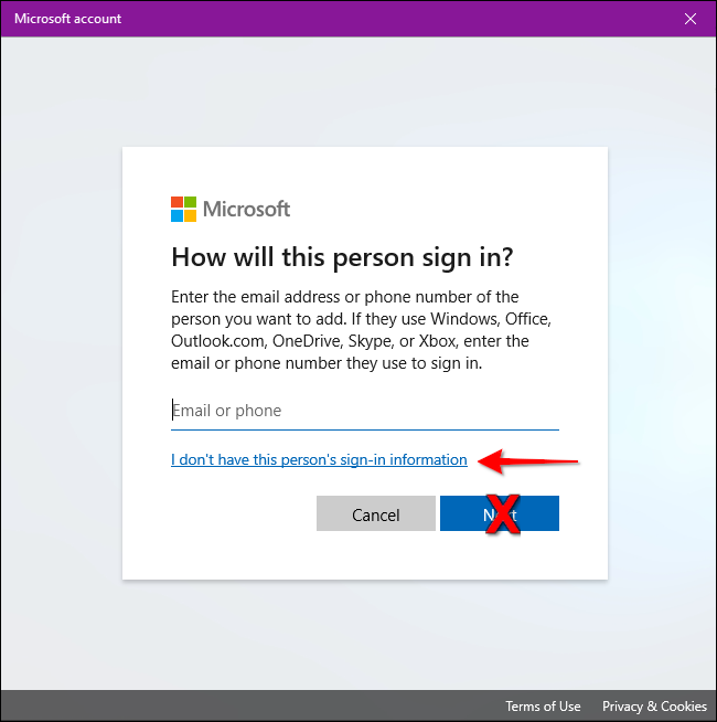 Windows 10 Don't Have Sign-in Info