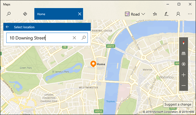 Search for your Home location, then press enter or click the search button