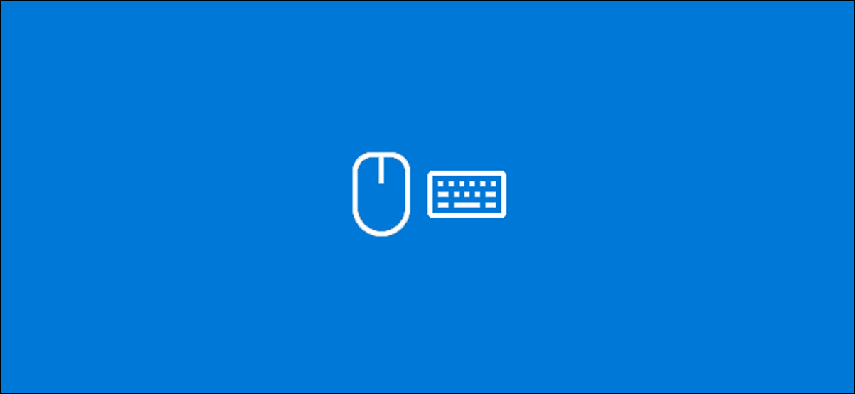 The Keyboard and Mouse icons in Windows 10