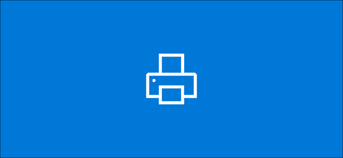 The Windows 10 printer logo
