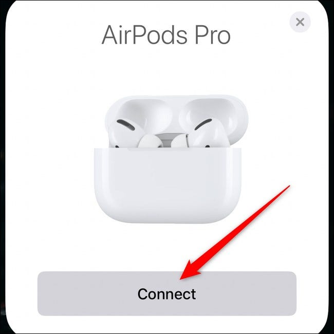 Apple AirPods Pro Pair with iPhone Tap Connect
