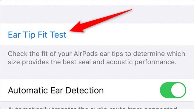 Apple AirPods Pro Select Ear Tip Fit Test