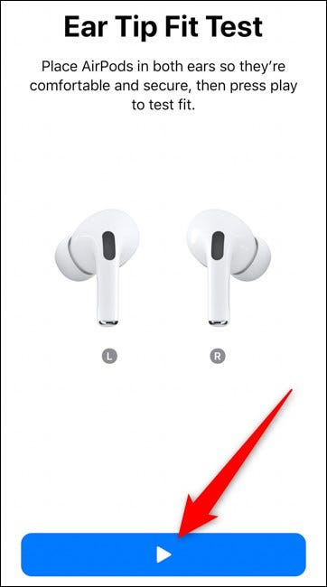 Apple AirPods Pro Select the Play Button