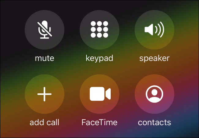 The Call screen on iOS 13.