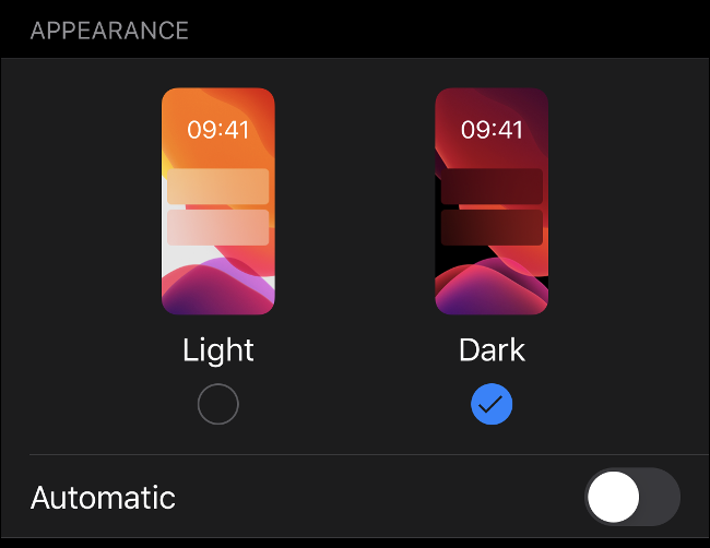 Enable Dark Mode in iOS 13