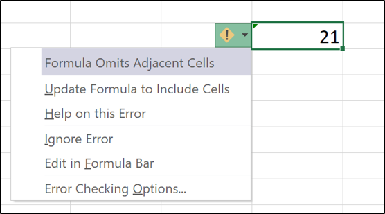 Options for handling the error
