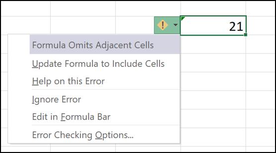 Options for handling the error