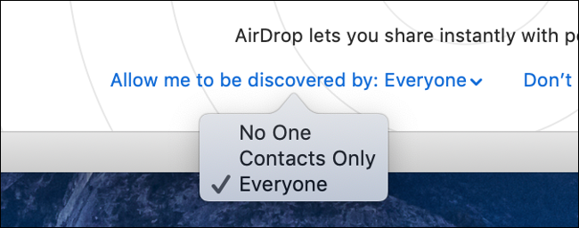 """The """"Allow Me To Be Discovered By:"""" drop-down menu."""