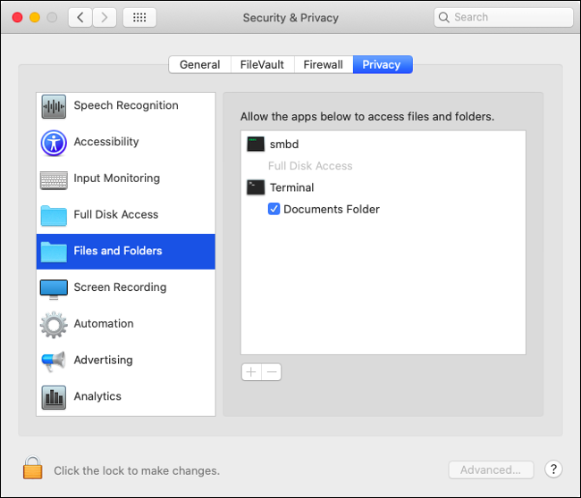 macOS Catalina Security and Privacy Settings