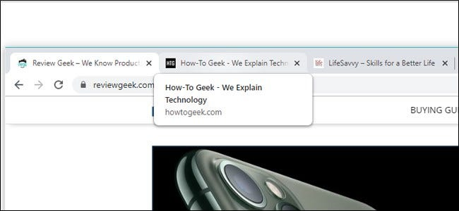 Tarjeta Google Chrome Hover Tab