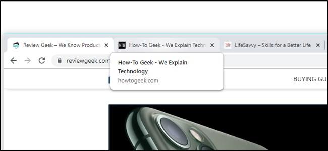 Google Chrome Hover Tab Card