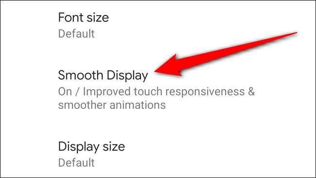 Google Pixel 4 Click Smooth Display