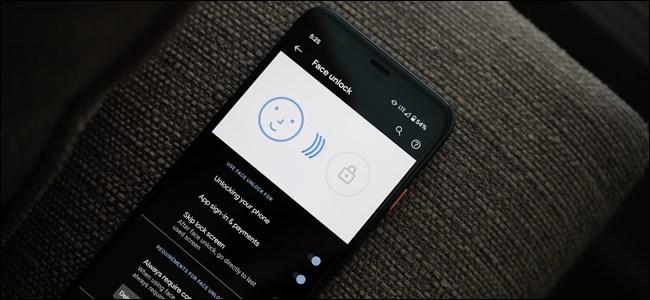 Google Pixel 4 Face Unlock Menu