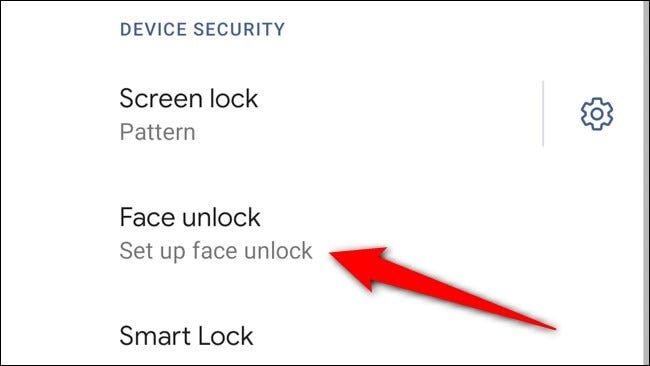 Google Pixel 4 Select Set Up Face Unlock