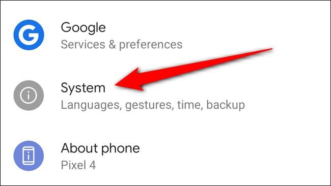 Google Pixel 4 Select System