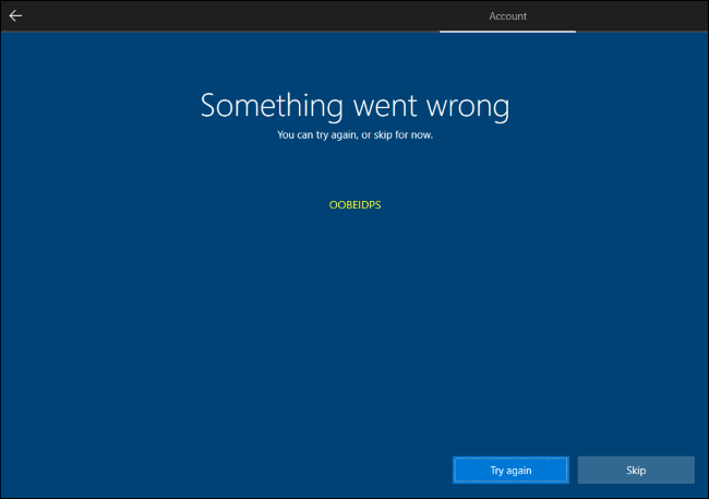 Omitir la creación de la cuenta de Microsoft de Windows 10.