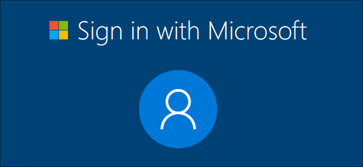 Sign in with Microsoft in Windows 10's setup process.