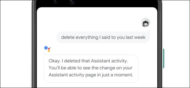 Eliminando lo que le dijiste al Asistente de Google por voz.