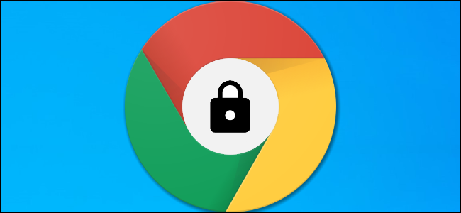A Google Chrome logo with a lock icon inside it.