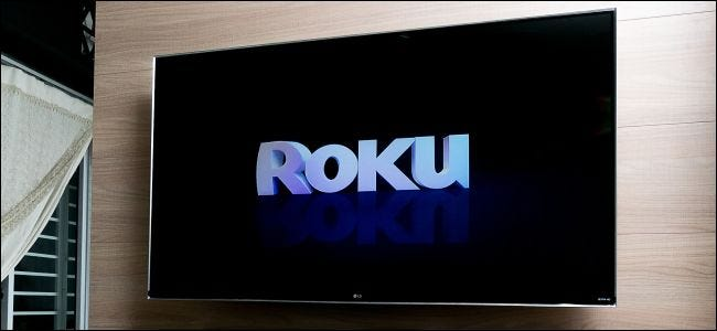 A TV with a Roku logo on it.