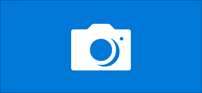 The Camera app's splash screen logo on Windows 10.
