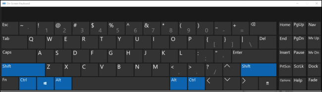 Office key actually presses all four modifier keys