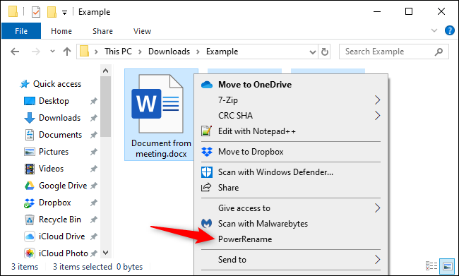 Bulk renaming files in File Explorer with Microsoft's PowerToy.