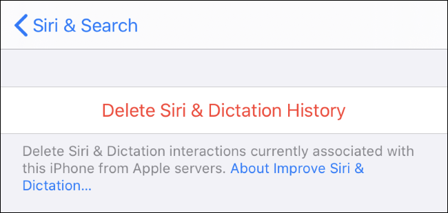 Deleting Siri & Dictation history from Apple's servers.