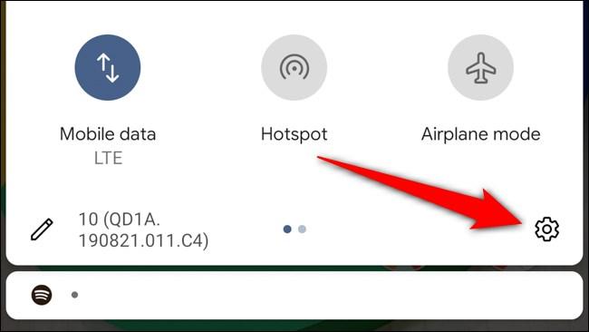 Google Pixel 4 Tap Gear Icon
