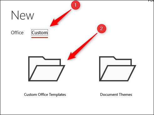 use custom template