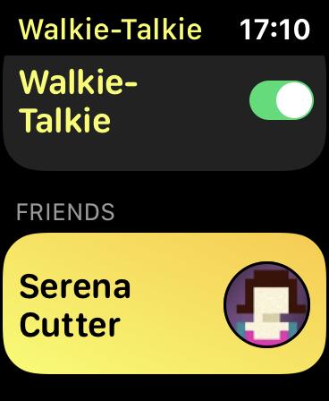 The Walkie-Talkie App on Apple Watch.