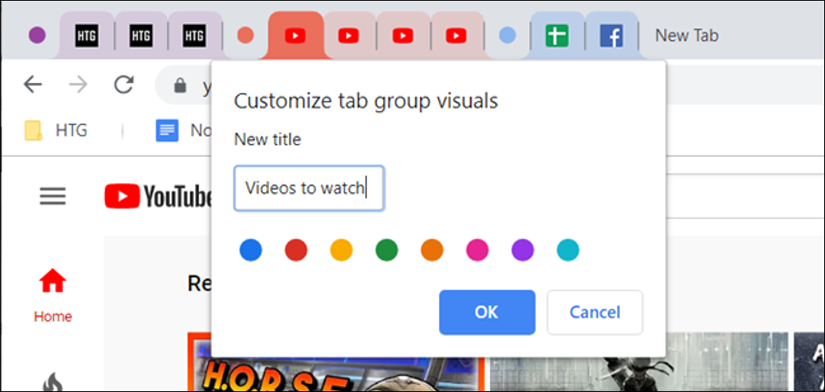 Group Tabs example image