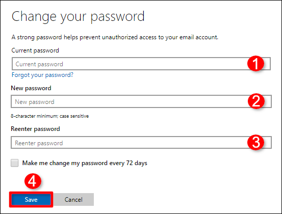 Change Your Password Confirm Windows Account