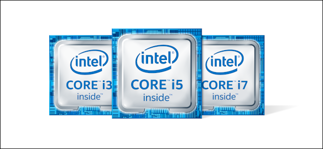 The Intel Core i3, i5, and i7 logos.
