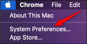 "Click ""System Preferences."""