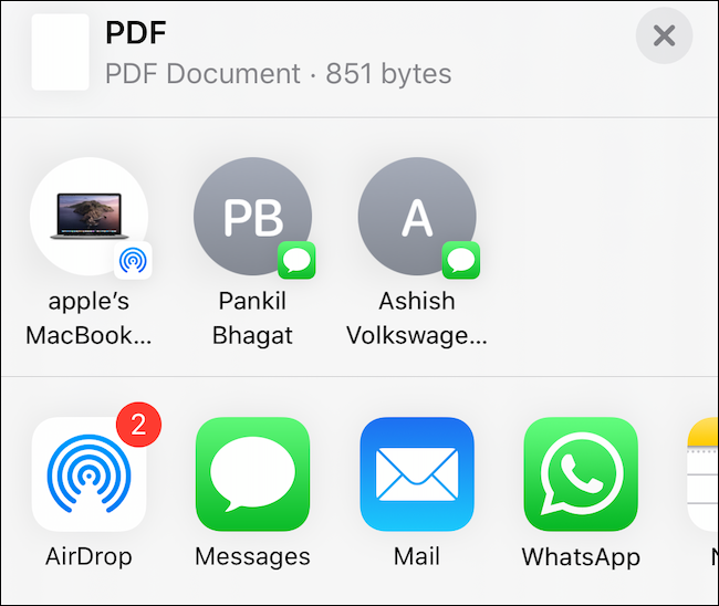 Select where you want to save the PDF.