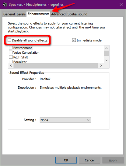 Windows 10 Disable Sound Effects