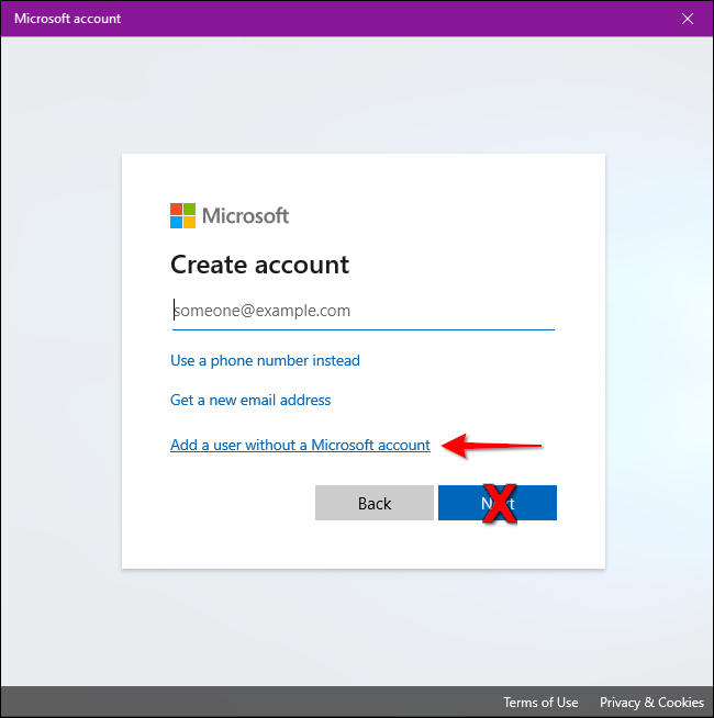 Windows 10 No Microsoft Account