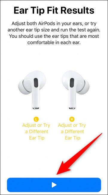 Apple AirPods Pro Bad Fit Results Select Play Again