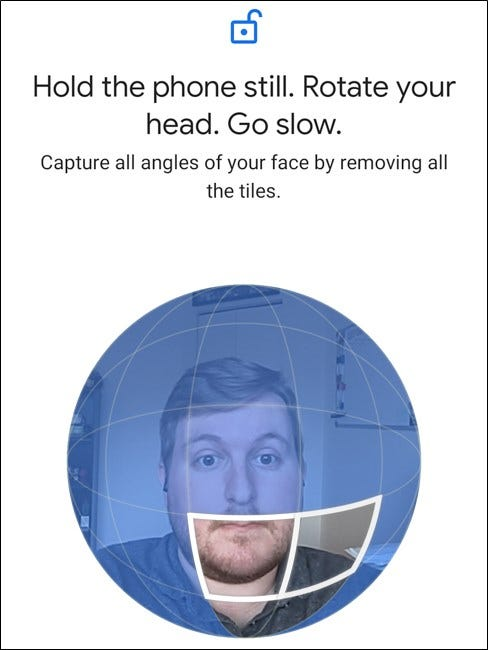 Google Pixel 4 Follow the Instruction and Rotate Head